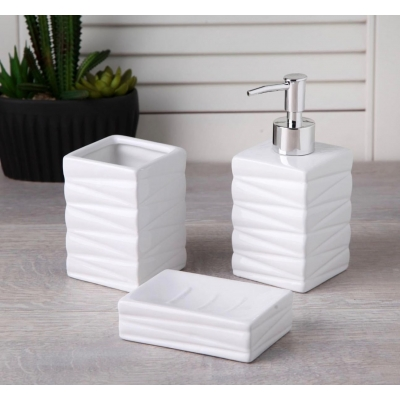 HM+ Bathroom Set Line White