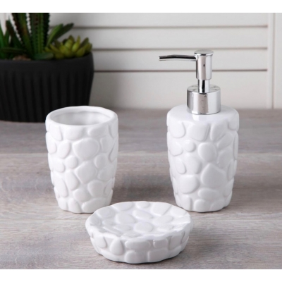 HM+ Bathroom Set Stone White