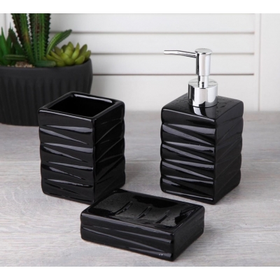 HM+ Bathroom Set Line Black