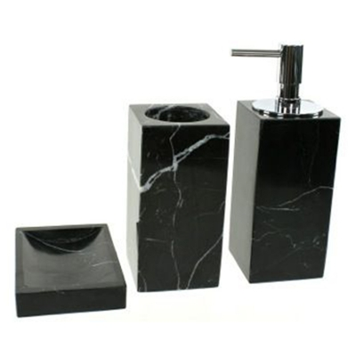 Rim Triple Marble Mini Bathroom Set
