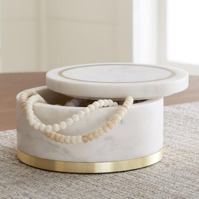 Sude Marble Jewelry Box