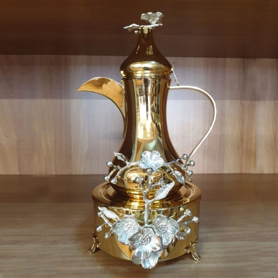 Gold Plated Branch Jug