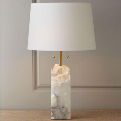 Natural Marble Looking Lamp