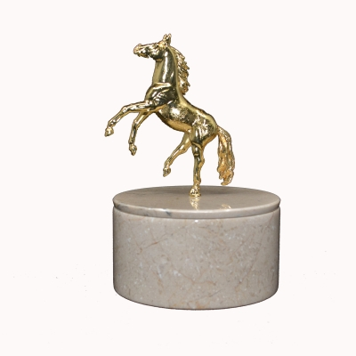 Horse Figured Marble Box