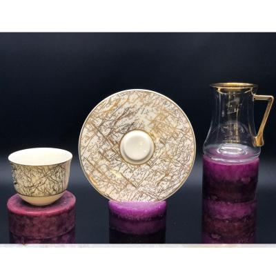 Mermer dekoratif fincan takımı